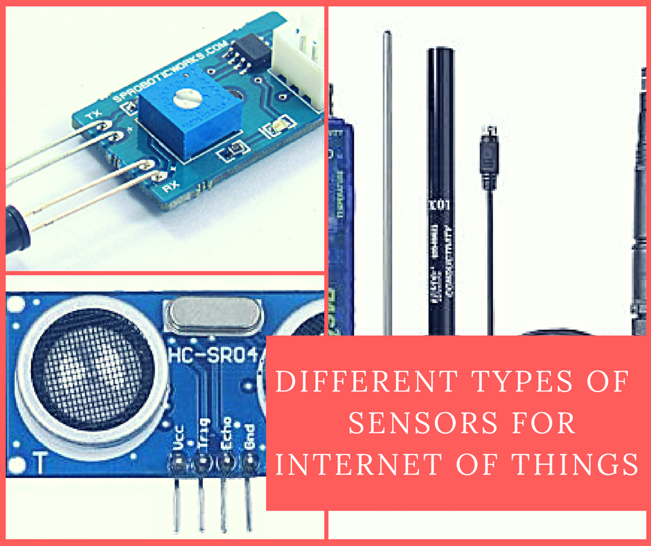 DIFFERENT TYPES OF         SENSORS FOR INTERNET OF THINGS