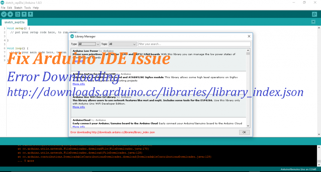 Error-Installing-Additional-library