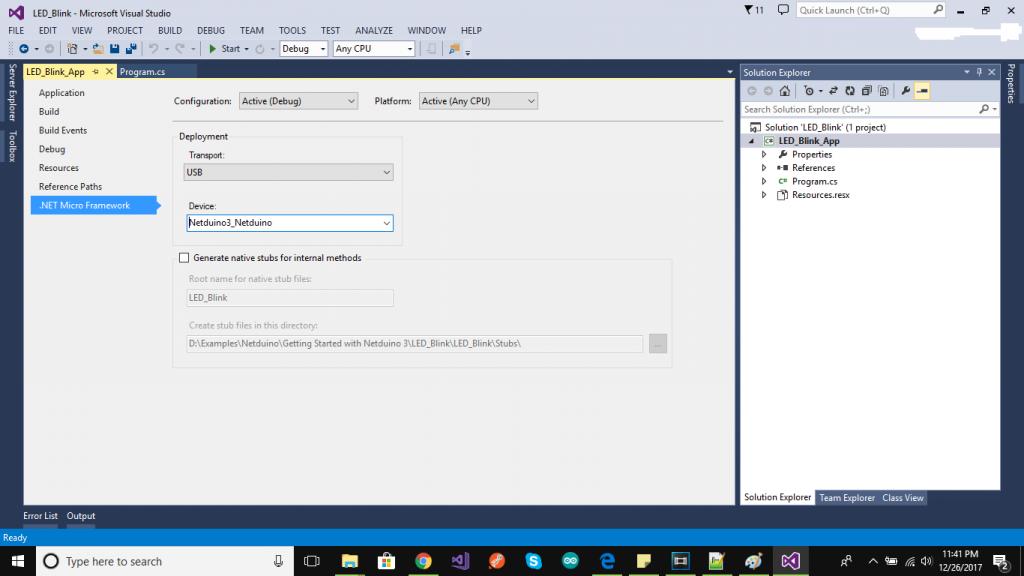 Netduino Visual Studio Deployment