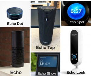 The Amazon's Echo line up devices