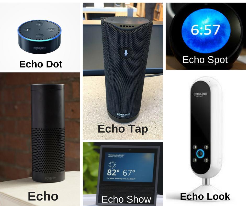 The Amazon Echo line up voice assistants