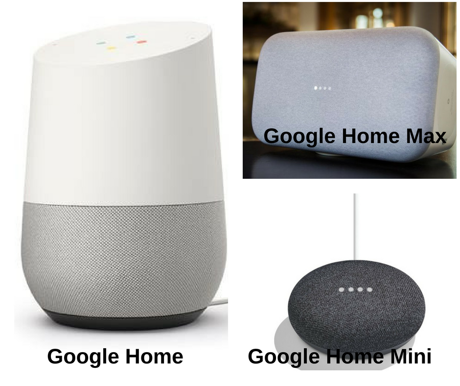 The Google Home line up Voice assistants